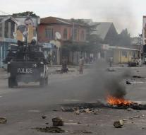 Security forces fire on protesters Congo