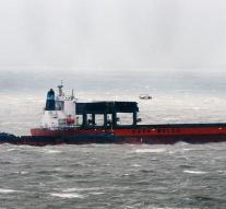 Ship in the English Channel in trouble