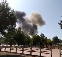 Spanish fighter plane collapses after show