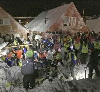 Spitsbergen houses buried by avalanche