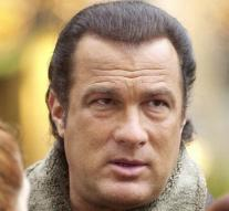 Steven Seagal with blues band in Belgrade
