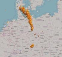Storm front paralyzes German traffic