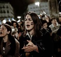 Striking actions on women's day in Spain