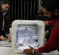 Supporters strongman Egypt wins elections
