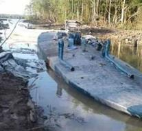 Surinamese police finds submarine for drugs