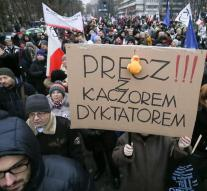 Sustained protests against Polish government