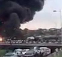Tank truck explodes on Nigerian highway