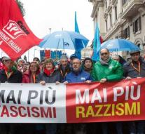 Tens of thousands demonstrating in Italy