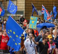 Tens of thousands protested against brexit
