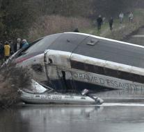 TGV was derailed by overspeed