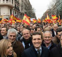 Thousands argue in Madrid against government