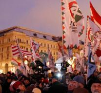 Thousands on the streets in Budapest