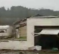 Tornado destroyed half of the village near Aachen