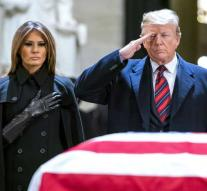 Trump and Melania prove Bush's final honor
