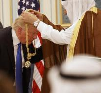 Trump gets a distinction in Saudi Arabia