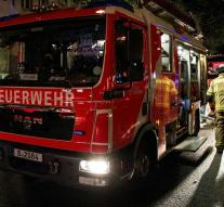 Weather fire in German refugee center