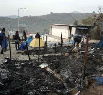 Woman and child death by fire in camp Lesvos