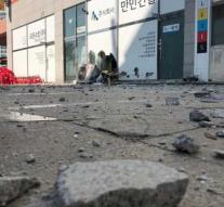 Wounded by South Korea earthquake