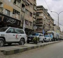 Wounded citizens leave East Ghouta