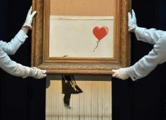 Banksy completely shred artwork