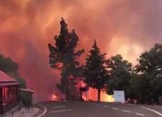 Big fire on holiday island of Gran Canaria