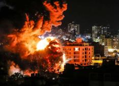 Hamas leader office destroyed by Israel
