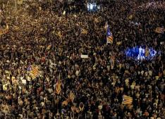 Protests in Barcelona until night