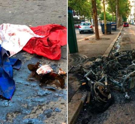 Paris seems to be a disaster area after World Cup riots